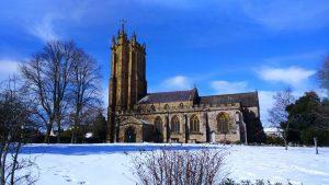 Wellington Church in the snow